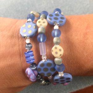 Jewelry - 🌸Czech glass bracelet handcrafted